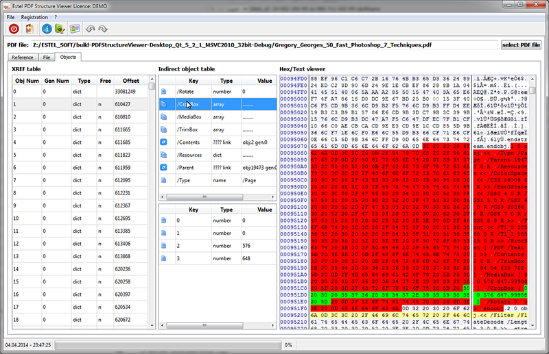 Click to view Estel PDF Structure Viewer 1.5 screenshot